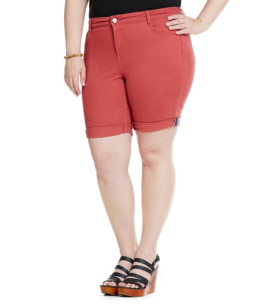 Code Bleu Plus Gwen Slimming Bermuda Shorts