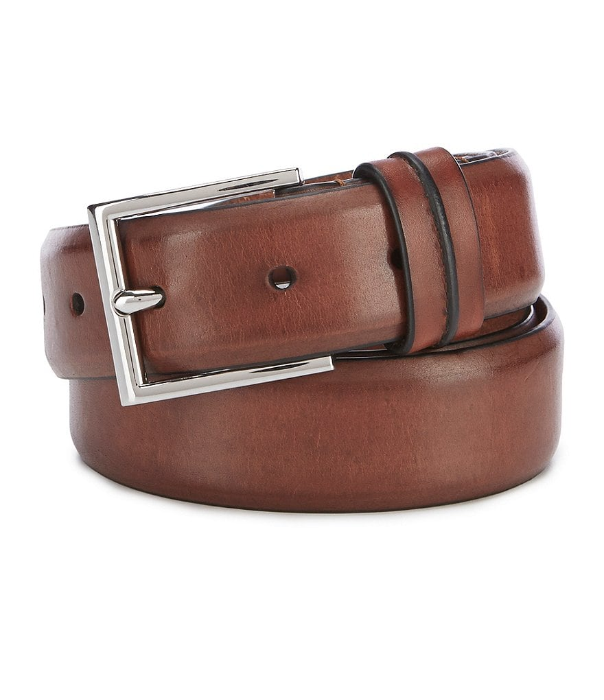 Cole Haan Feather Edge Double Keeper Leather Belt