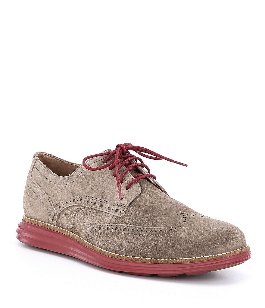 Cole Haan Men's Original Nubuck Grand Wingtip Oxfords