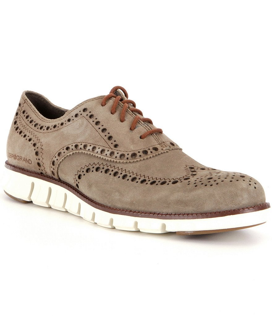 Cole Haan Men´s Zerogrand Wingtip Suede Oxfords