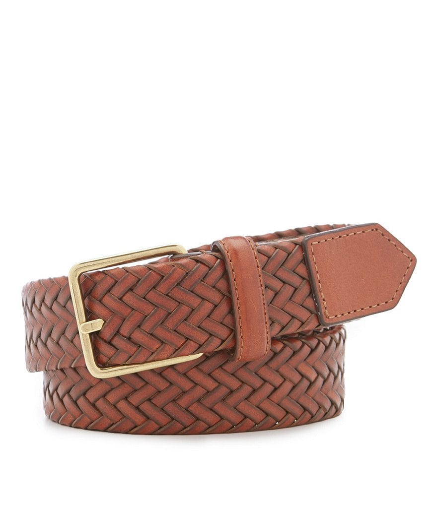Cole Haan Stretch Woven Leather Belt