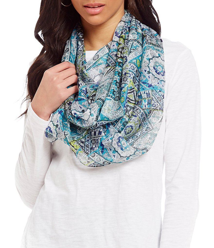 Collection 18 Paisley Tile Infinity Scarf