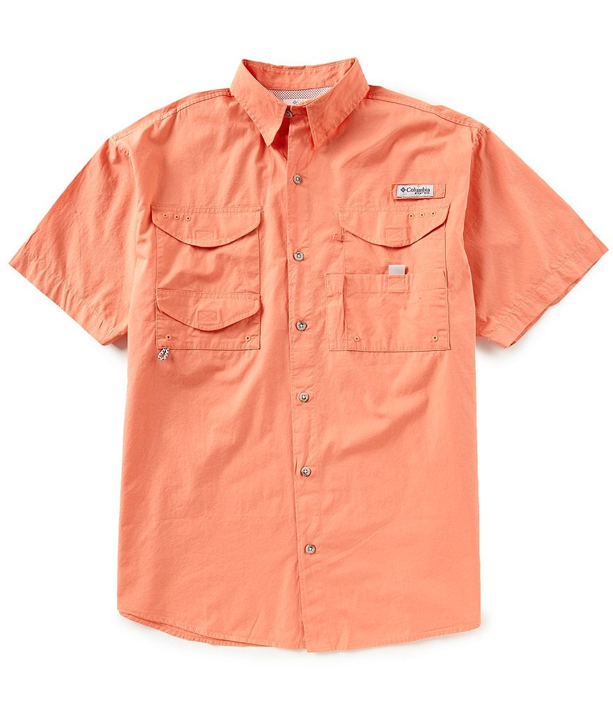 Columbia PFG Bonehead Solid Short-Sleeve Woven Shirt