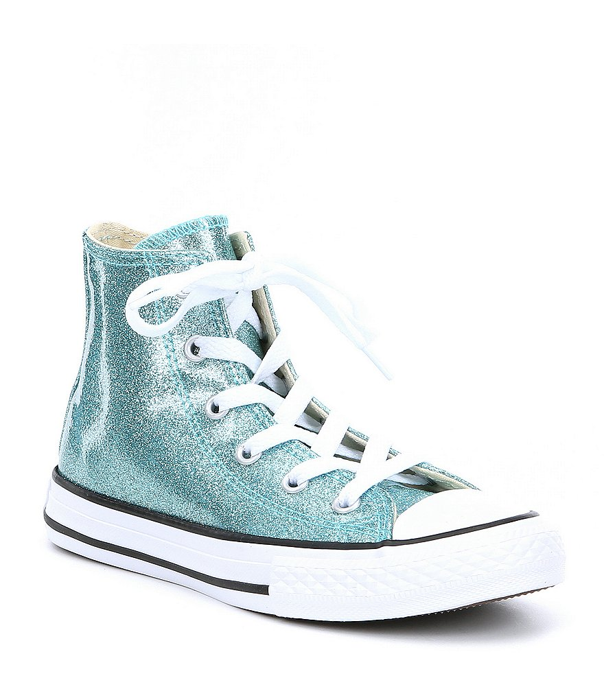 Converse Girls' Chuck Taylor® All Star® Hi-Top Glitter Coated Canvas Sneakers