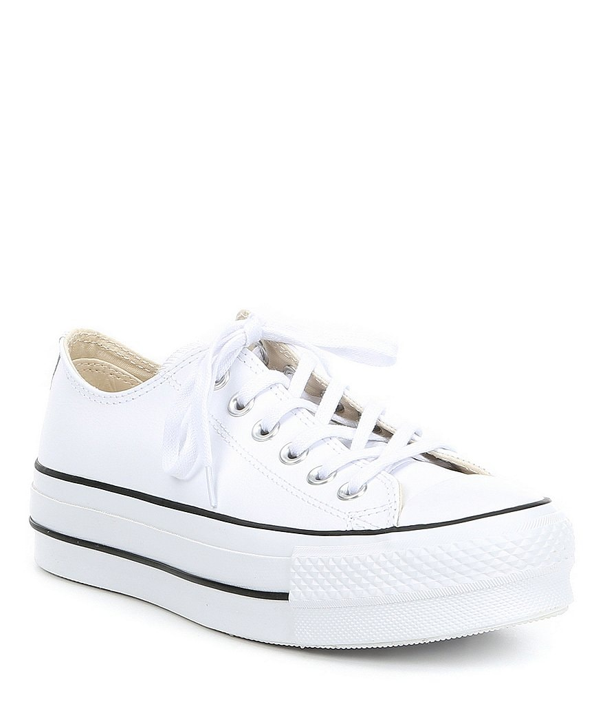 Converse Women s Chuck Taylor® All Star® Leather Platform Sneakers ... 56ad4f47202e
