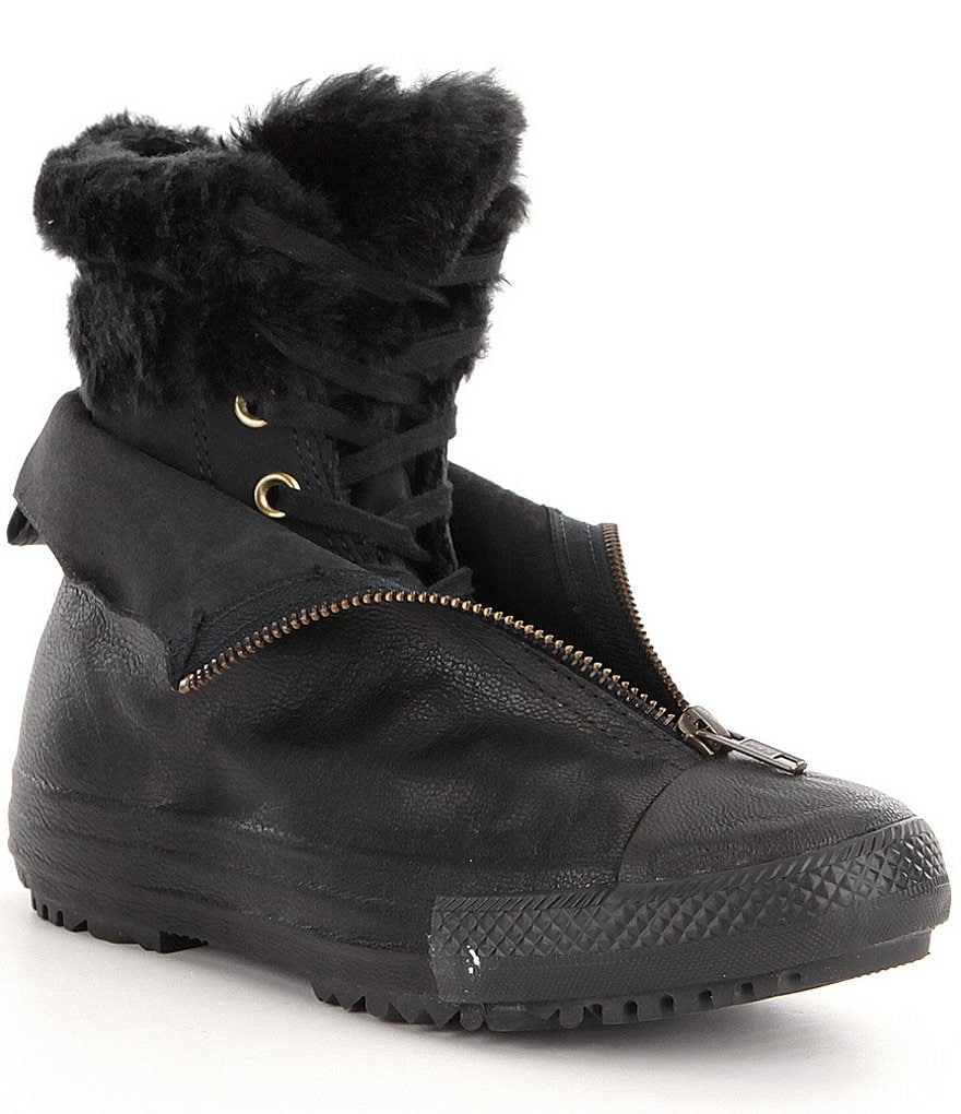 Converse Women´s Chuck Taylor® All Star® Shroud High Rise Synthetic Faux Fur Sneaker Boots