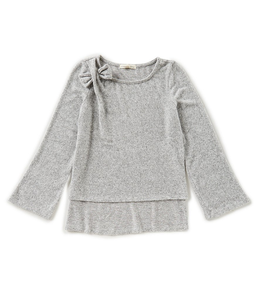 Copper Key Big Girls 7-16 Bow Long-Sleeve Sweater