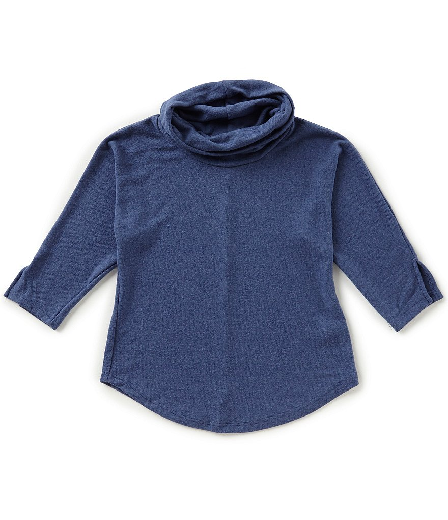 Copper Key Big Girls 7-16 Cowl-Neck Knit Top