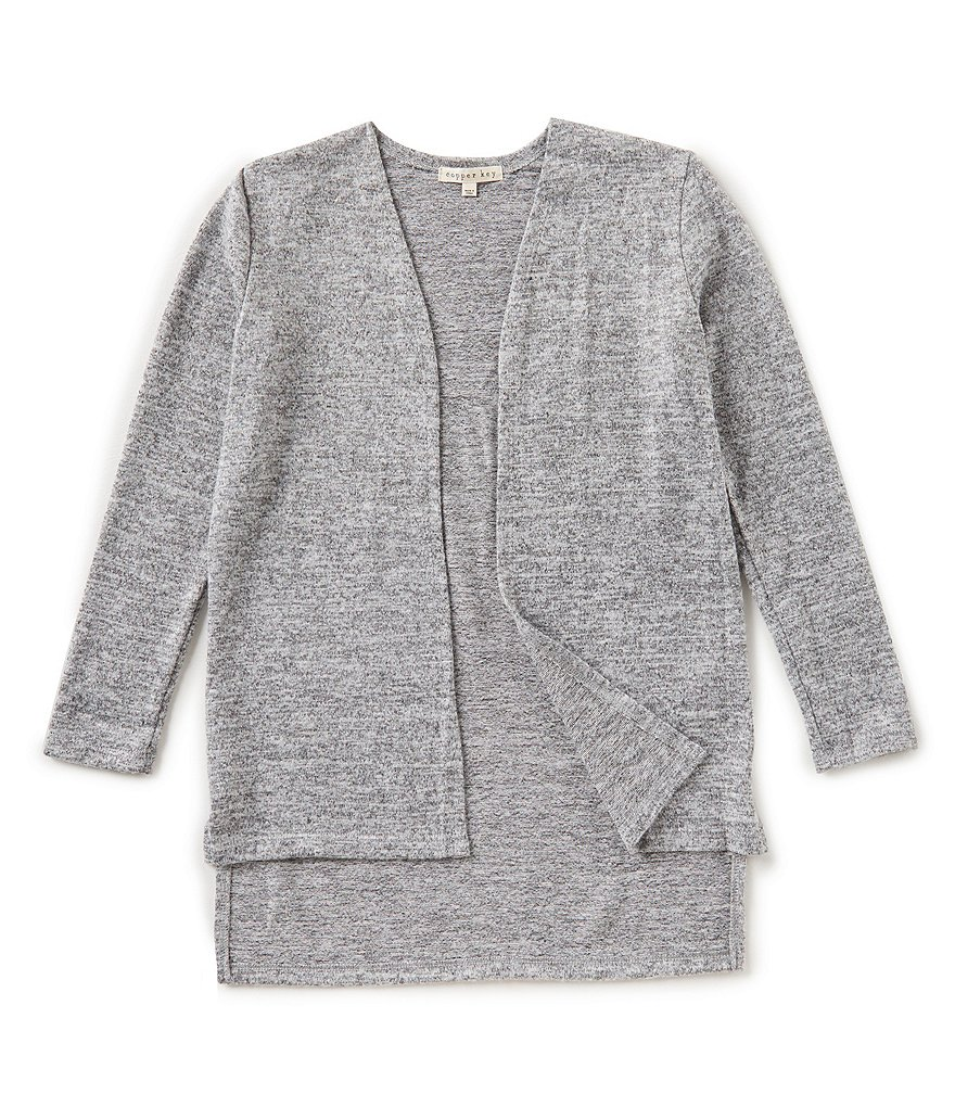 Copper Key Big Girls 7-16 Hi-Low Cardigan Sweater | Dillards