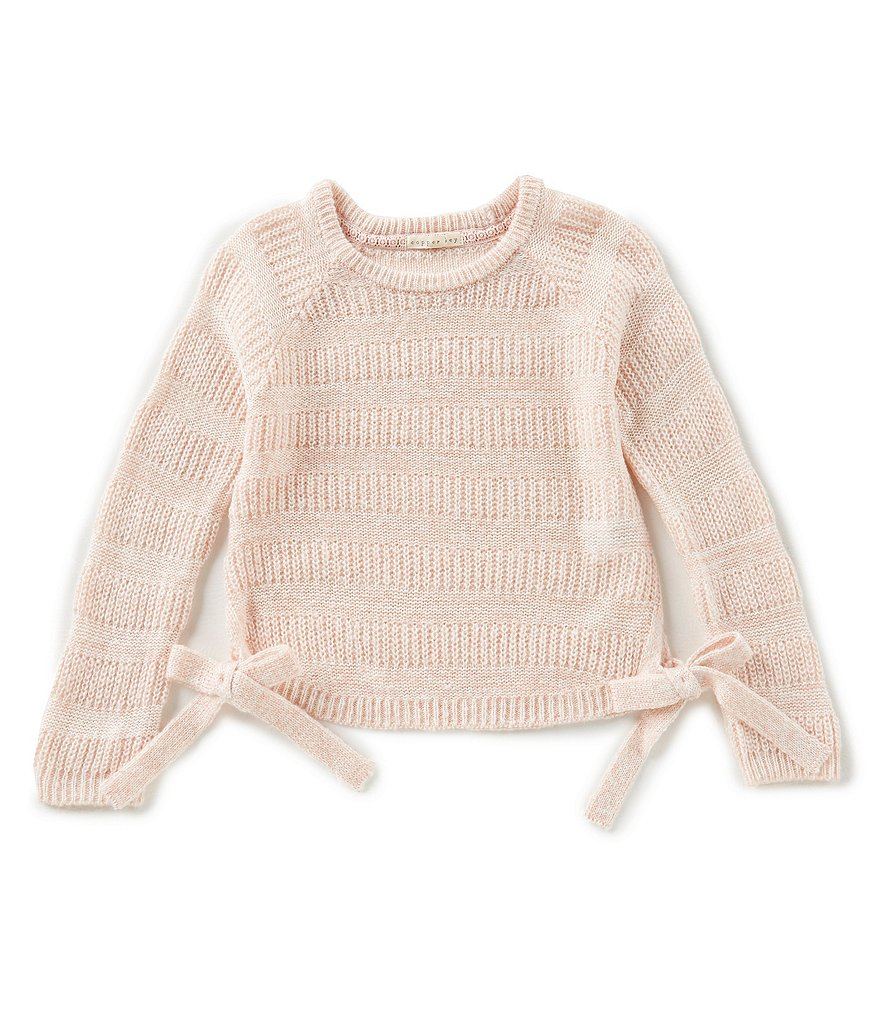 Copper Key Big Girls 7-16 Long-Sleeve Bow Sweater