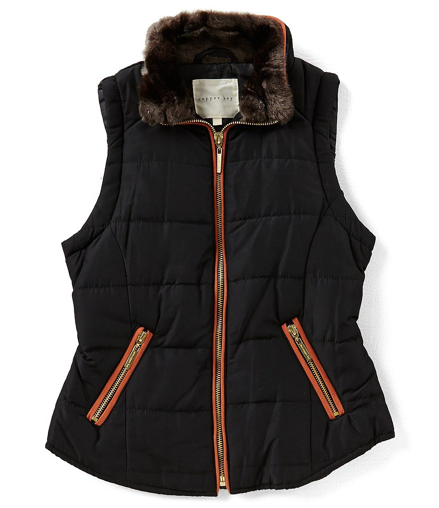 Copper Key Big Girls 7-16 Quilted Zip-Front Vest