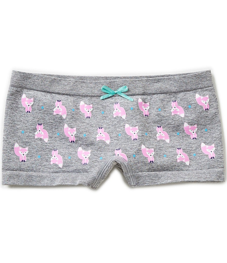 Copper Key Big Girls 7-16 Seamless Fox Print Boyshorts