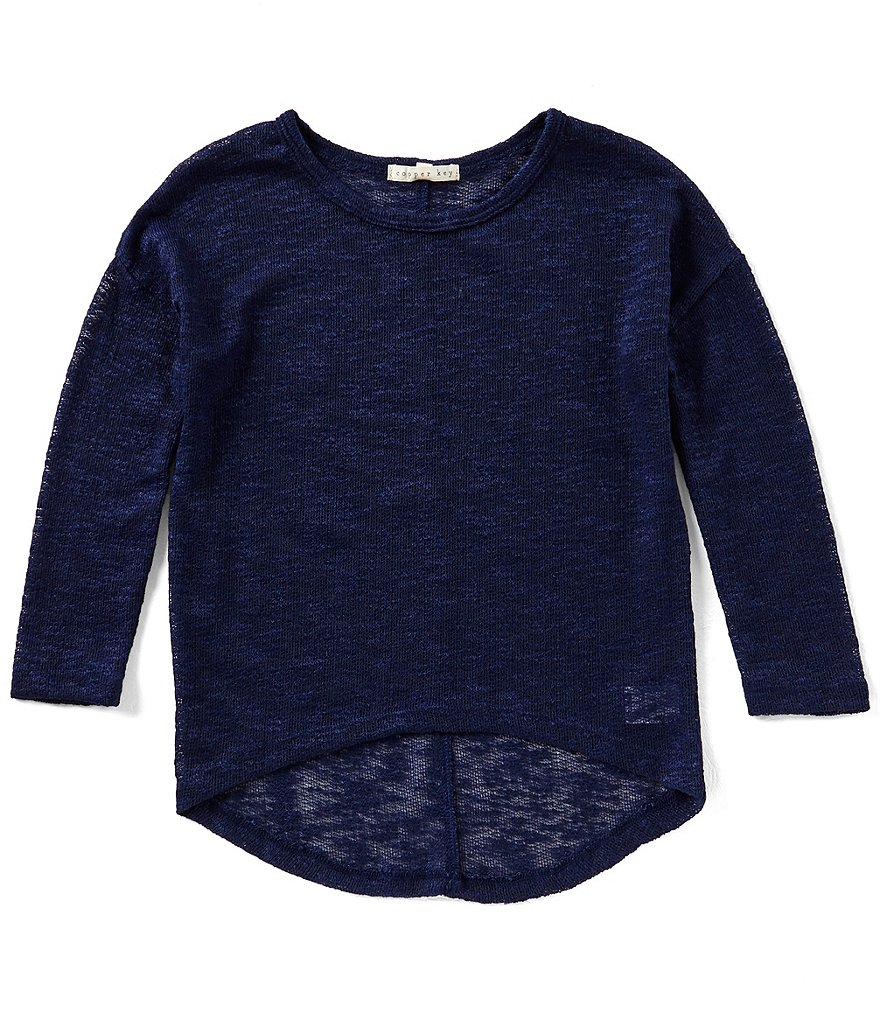 Copper Key Big Girls 7-16 Slub-Knit Top