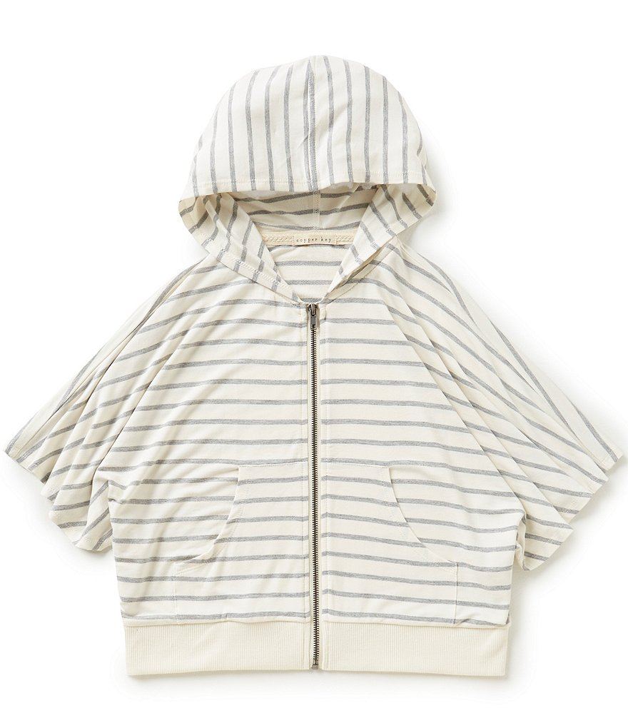 Copper Key Big Girls 7-16 Stripe Knit Poncho
