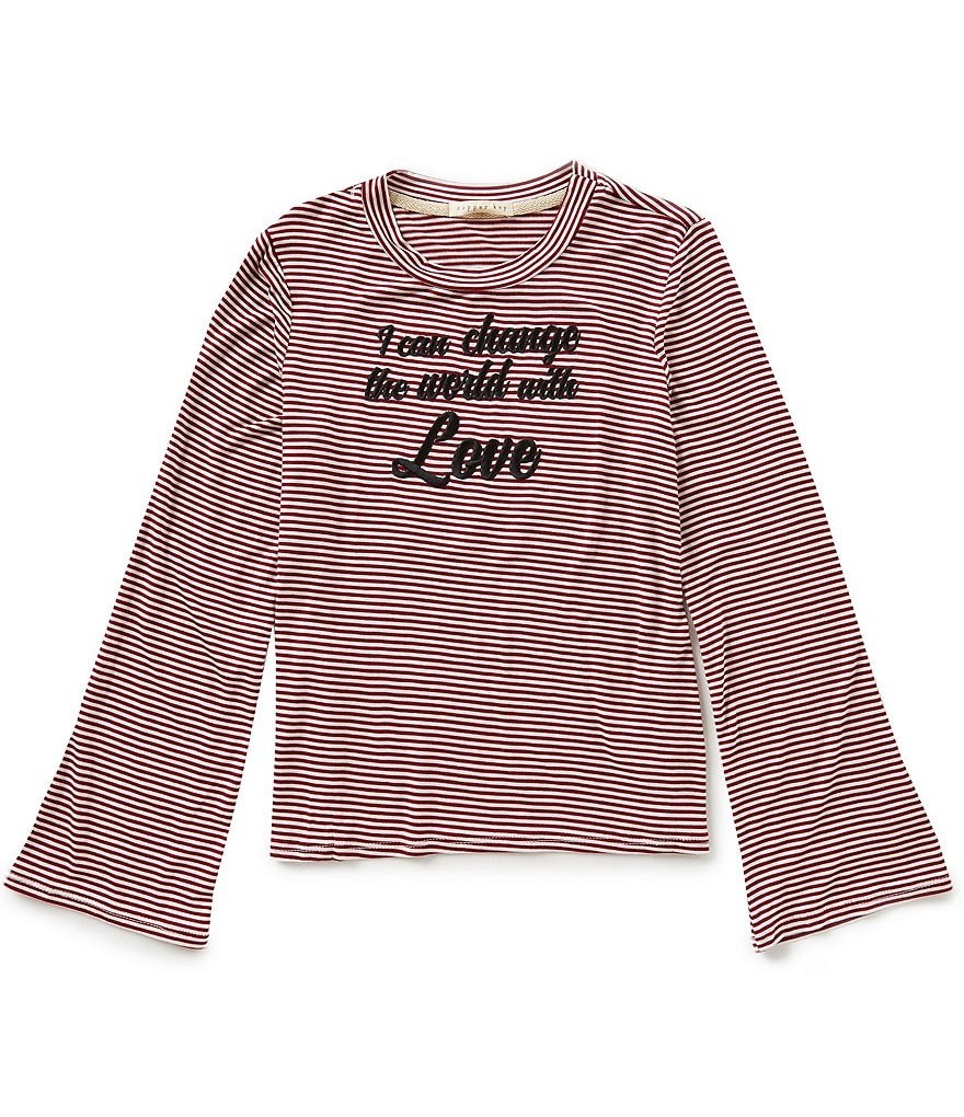 Copper Key Big Girls 7-16 Striped Pullover Top