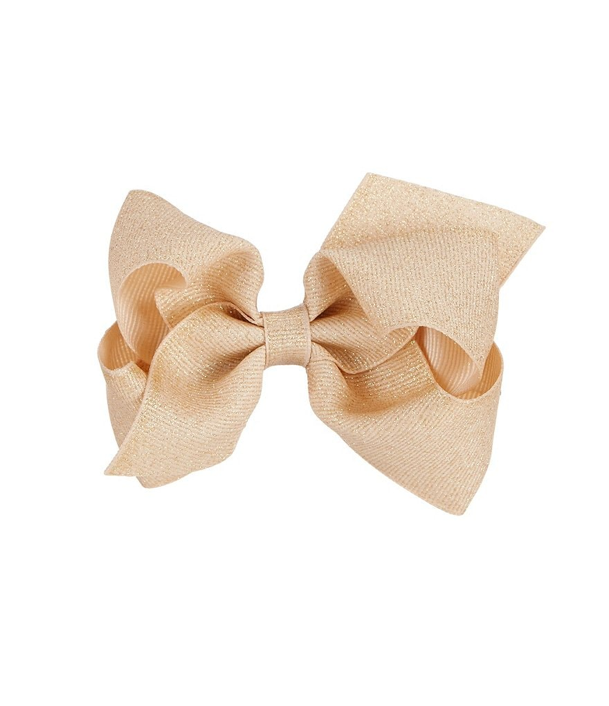 Copper Key Grosgrain Dazzle Glitter Bow