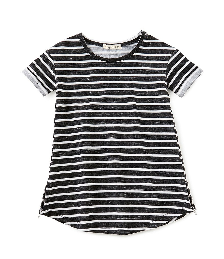 Copper Key Little Girls 2T-6X French Terry Striped Dress