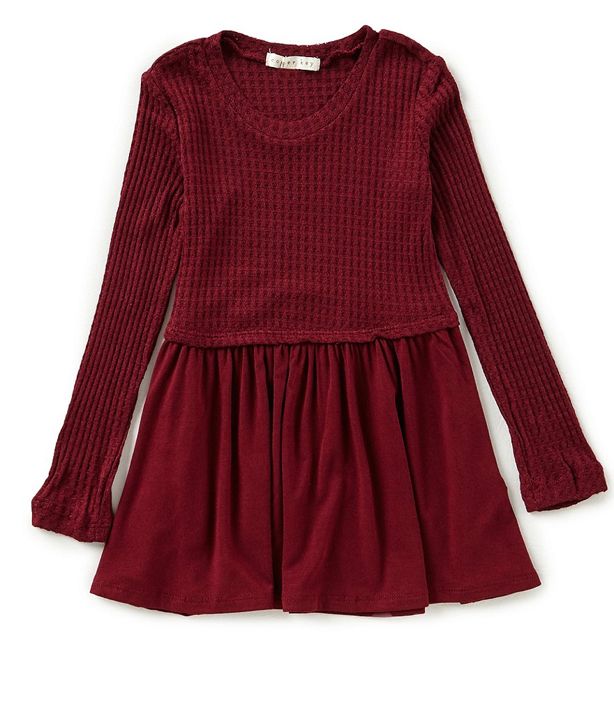 Copper Key Little Girls 2T-6X Waffle Knit Tunic