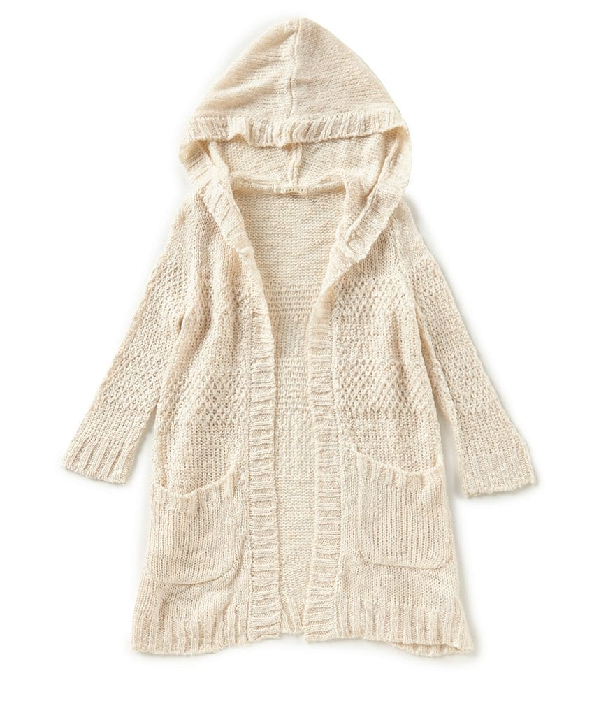Copper Key Little Girls 4-6X Textured Hoodie Cardigan Sweater