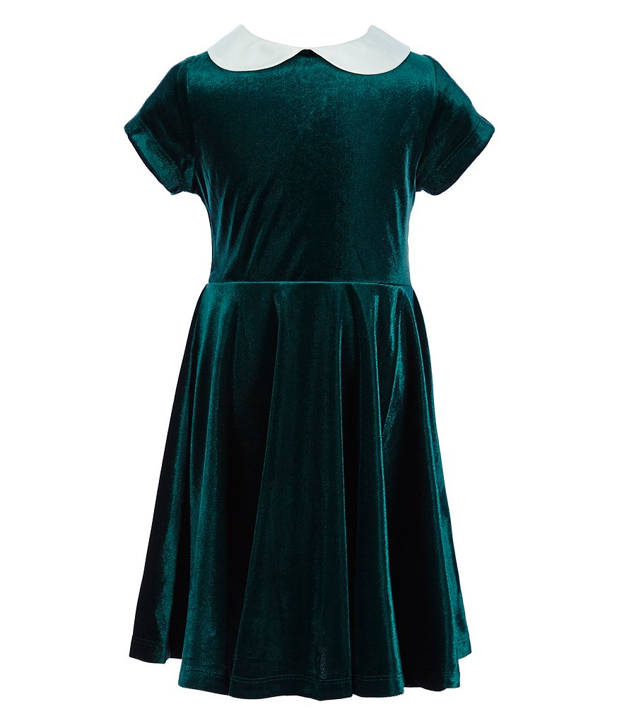 Copper Key Little Girls 4-6X Velour Skater Dress