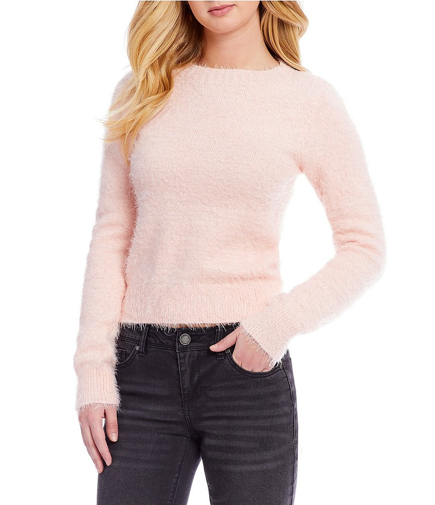 Copper Key Long Sleeve Eyelash Sweater