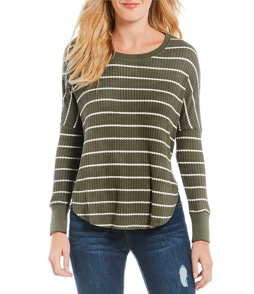 Copper Key Striped Thermal Long Sleeve Tee