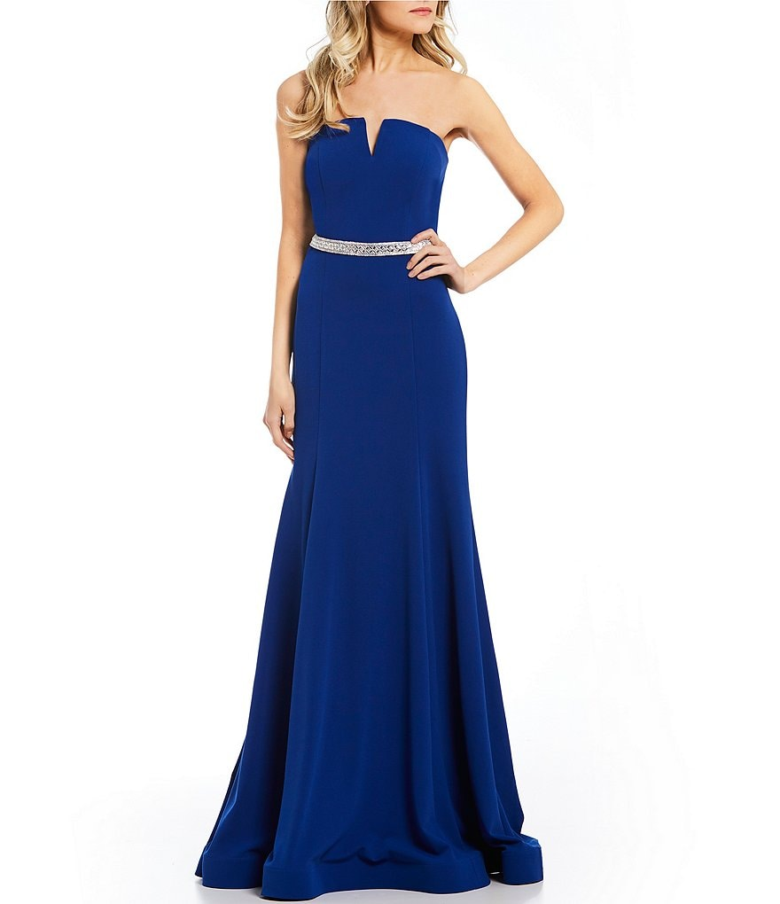 Coya Collection Strapless Long Dress