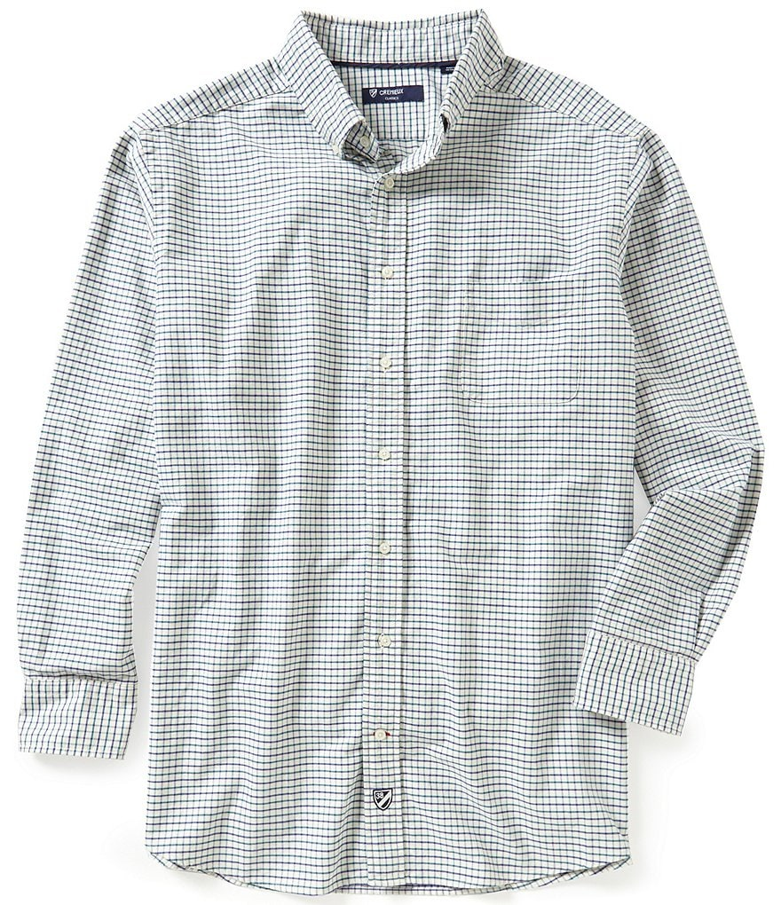 Cremieux Big & Tall Long-Sleeve Graph Check Oxford Woven Shirt