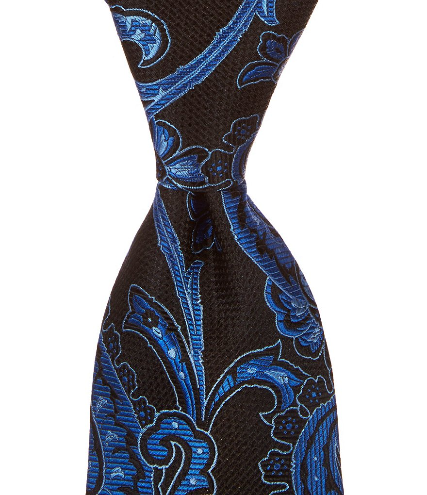 Cremieux Big & Tall Overgrown Paisley Traditional Silk Tie
