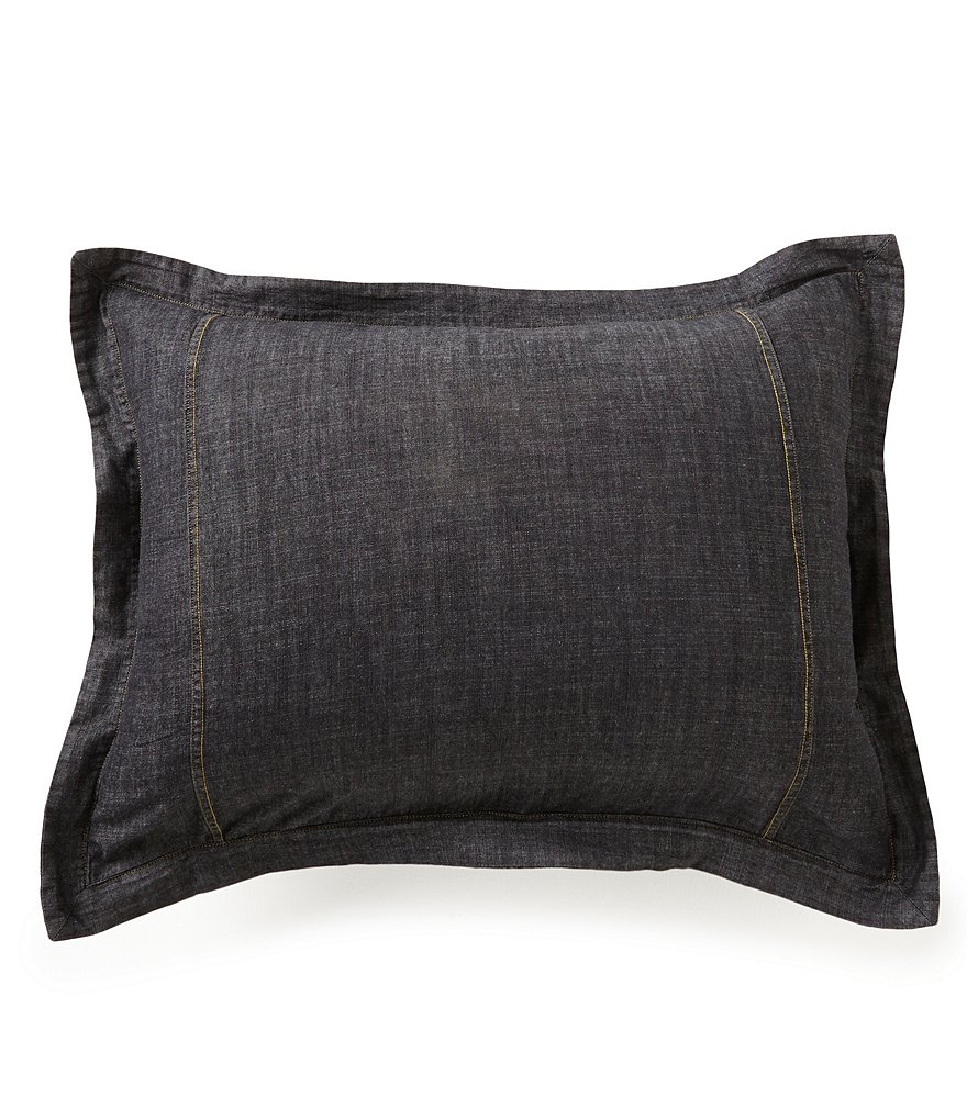 Cremieux Black Denim Sham