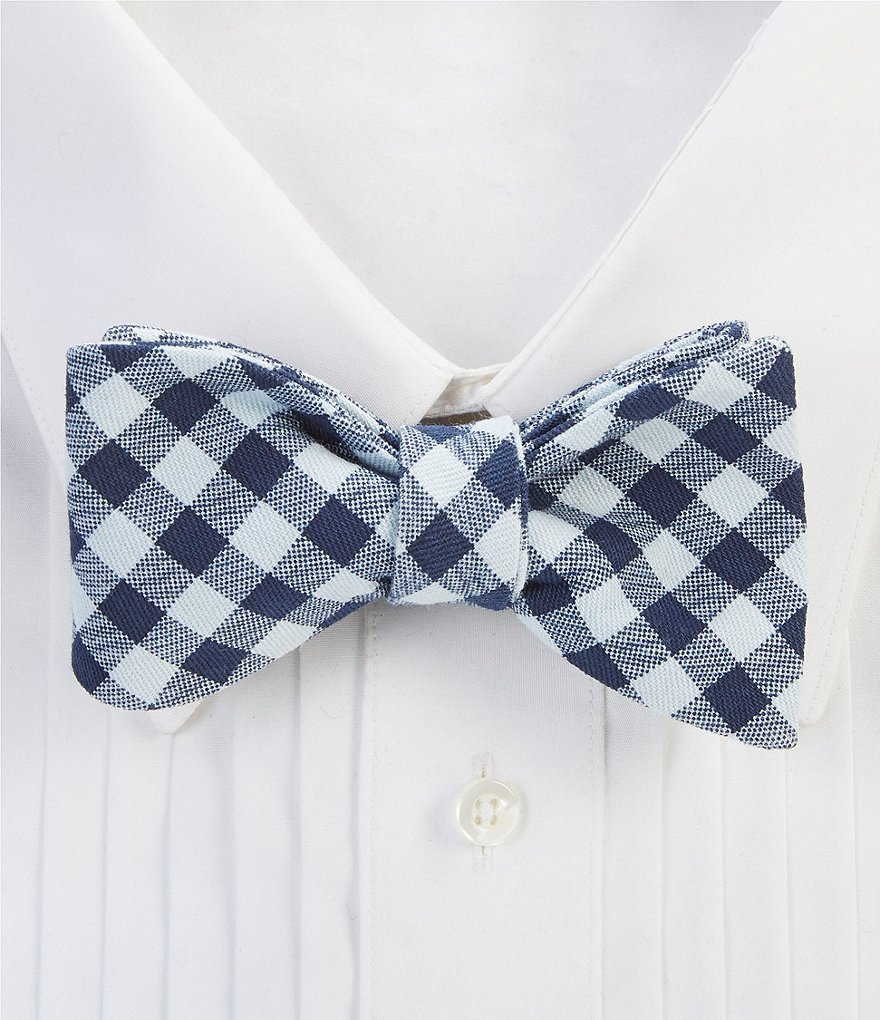 Cremieux Check Bow Tie