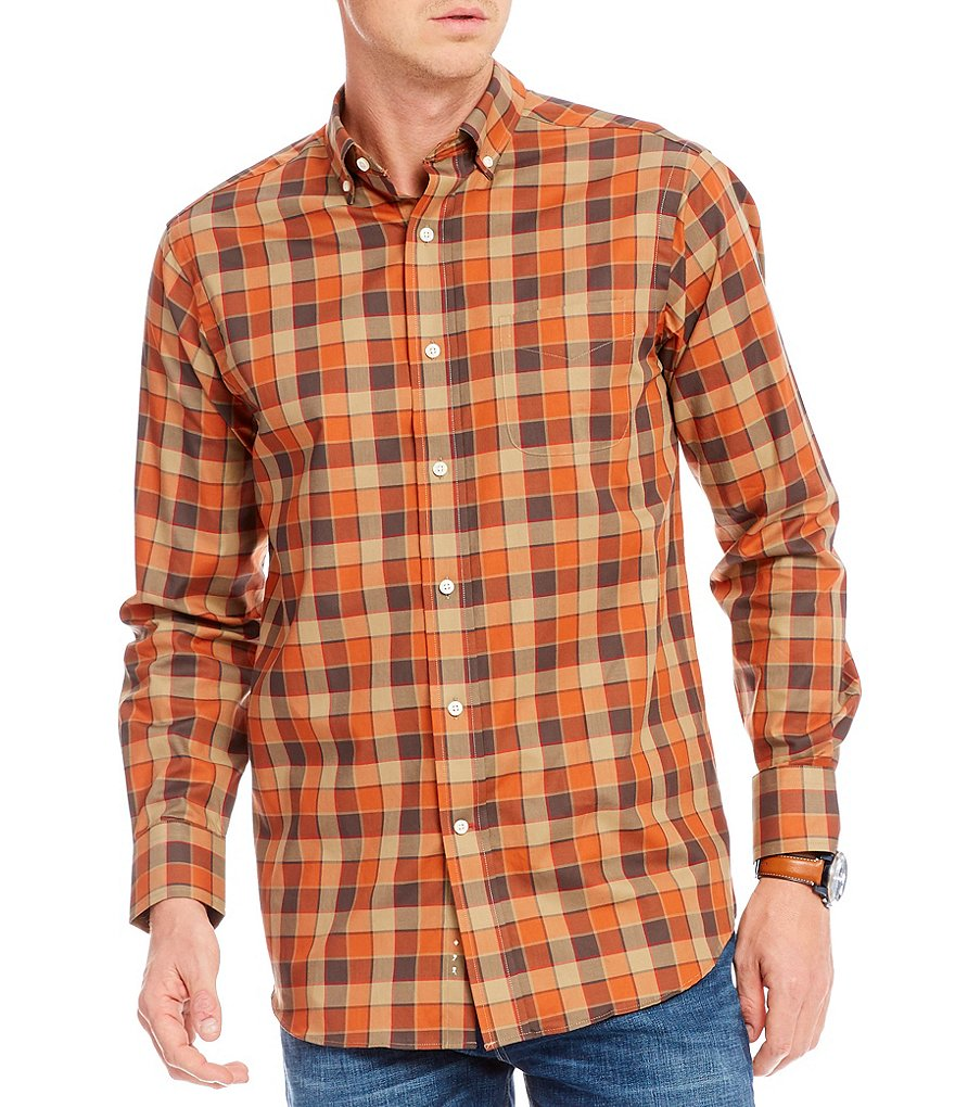 Cremieux Check Fine Twill Long-Sleeve Woven Shirt