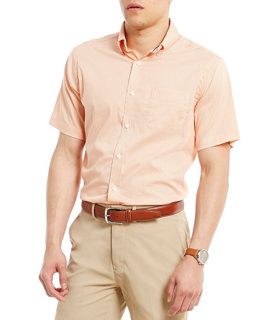 Cremieux Checked Short-Sleeve Woven Shirt