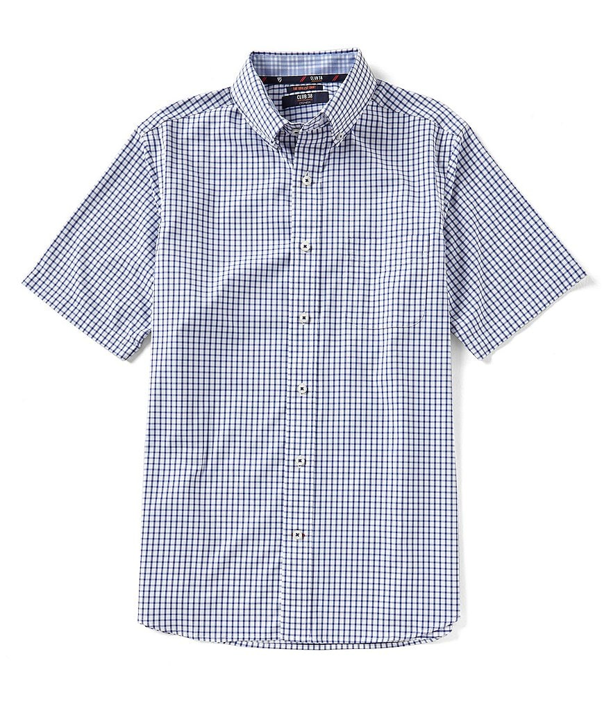 Cremieux Club 38 Performance Graph Check Twill Short-Sleeve Woven Shirt