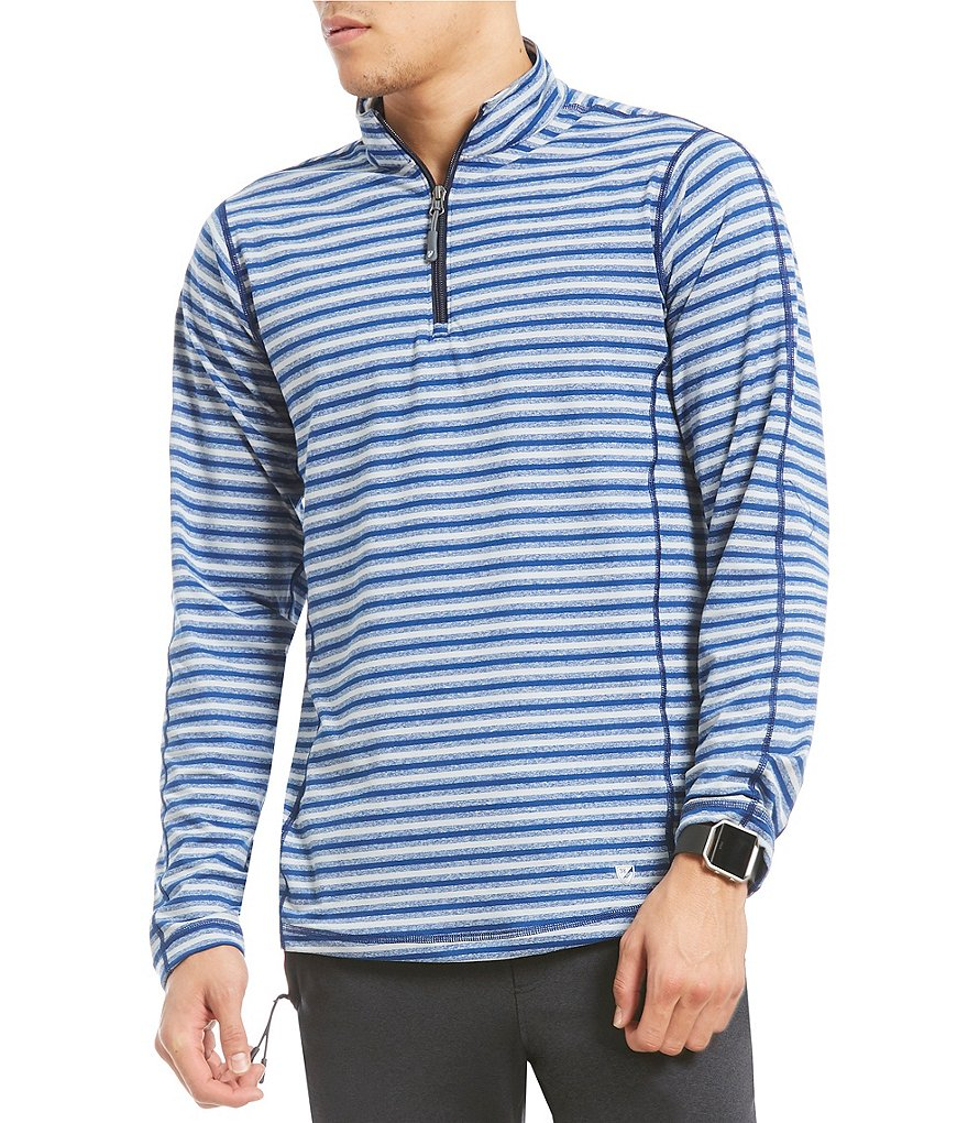 Cremieux Club 38 Performance Stripe Quarter-Zip Pullover