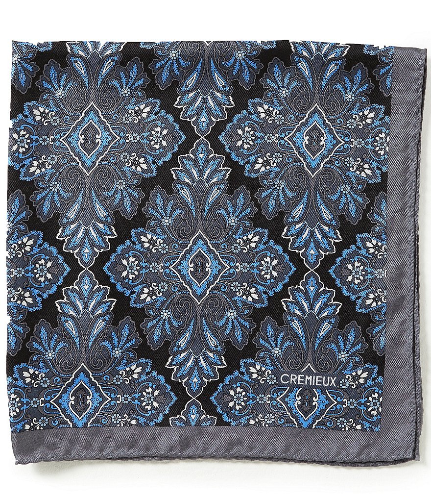 Cremieux Diamond Medallion Pocket Square