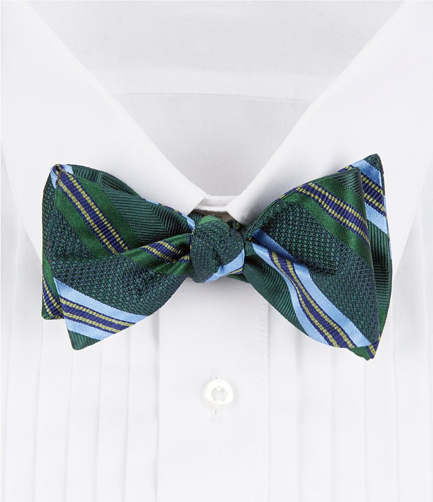Cremieux Fancy Stripe Silk Bow Tie