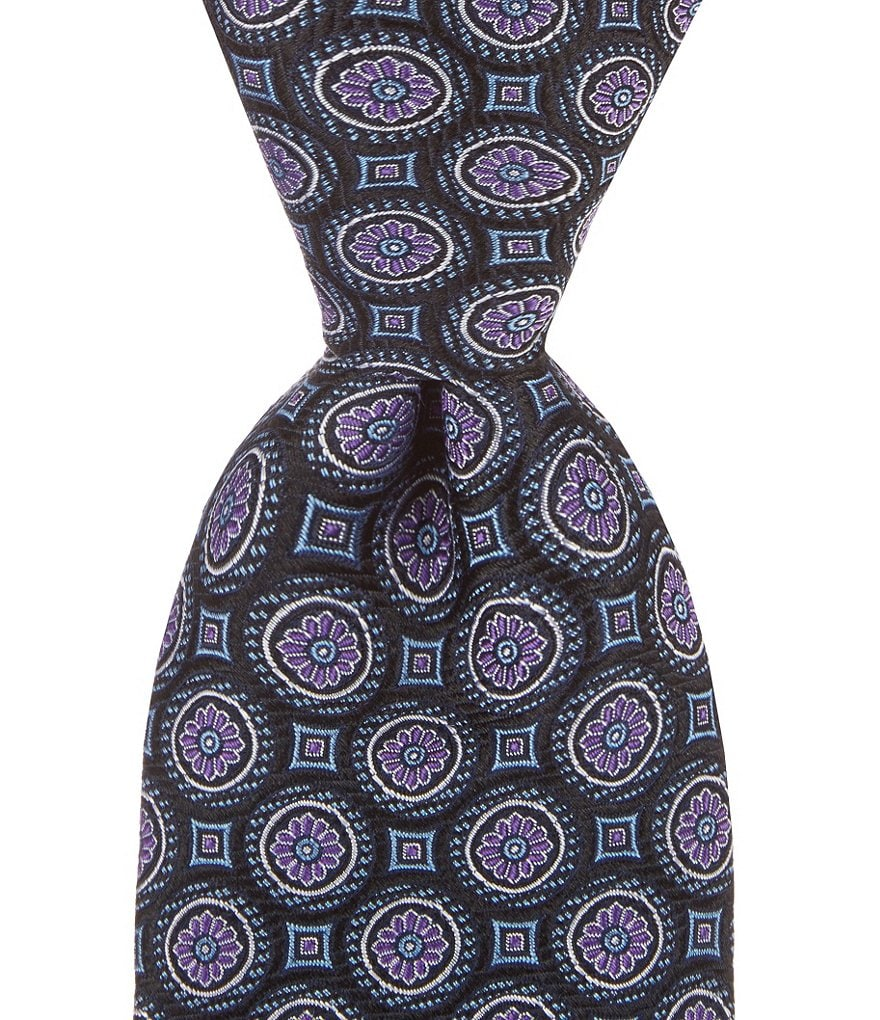 Cremieux Florette Medallion Traditional Silk Tie