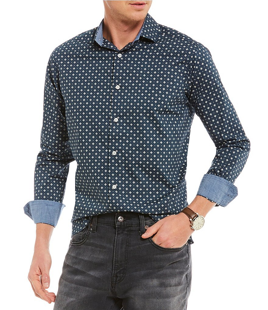 Cremieux Foulard Print Long-Sleeve Woven Shirt