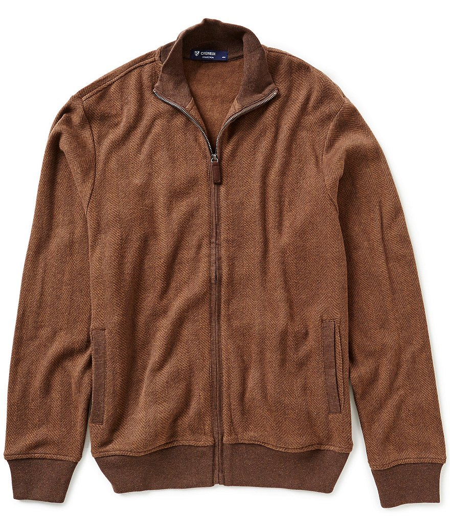 Cremieux Highland Peaks Collection Elbow-Patch Herringbone Jacket