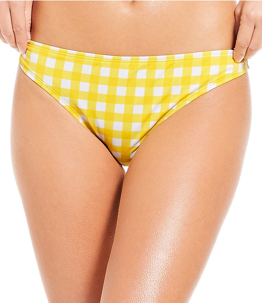 Cremieux Gingham Hipster Bikini Swimsuit Bottom