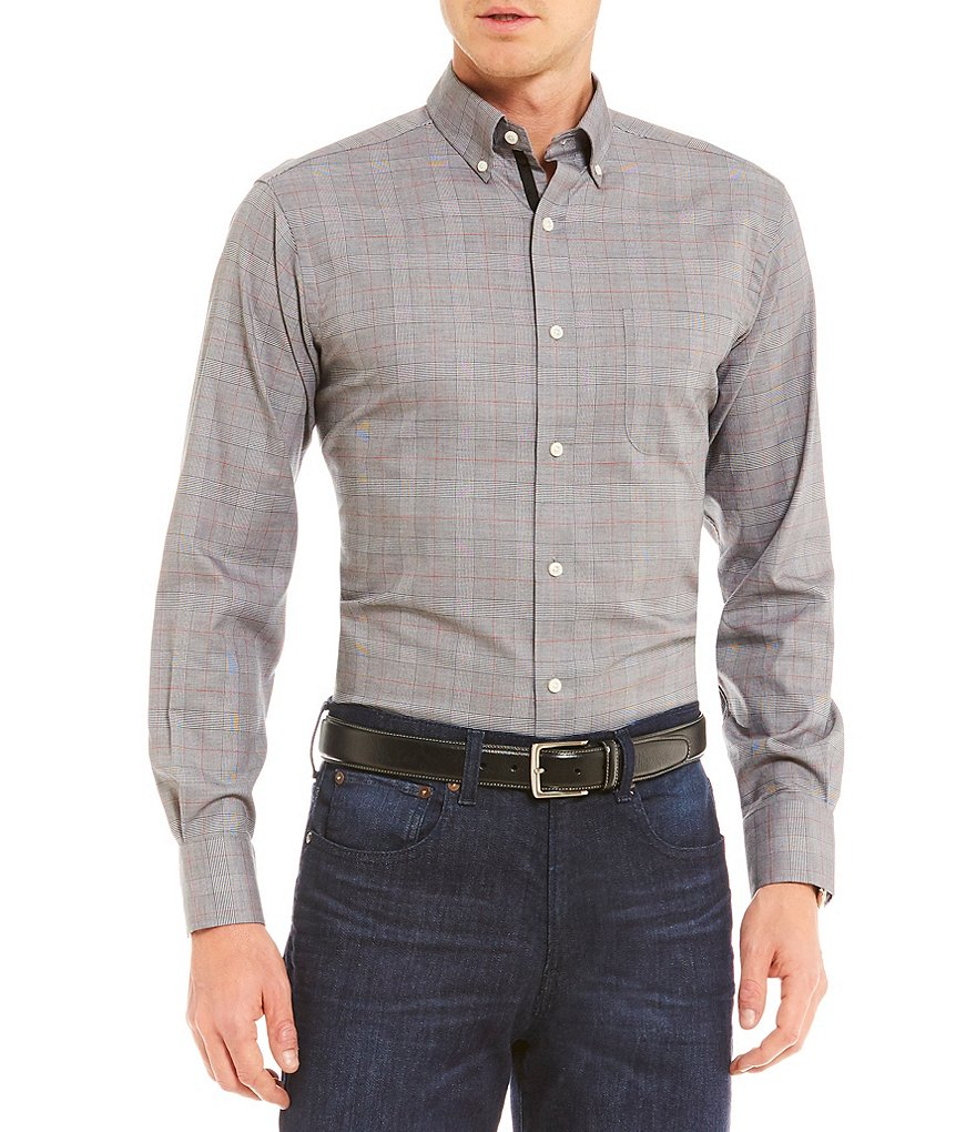 Cremieux Glen Plaid Long-Sleeve Woven Shirt