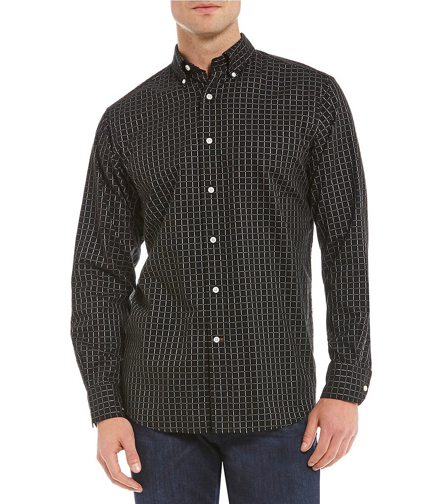 Cremieux Graph Check Long-Sleeve Woven Shirt