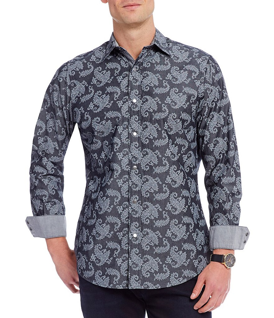 Cremieux Jeans Paisley Long-Sleeve Woven Shirt