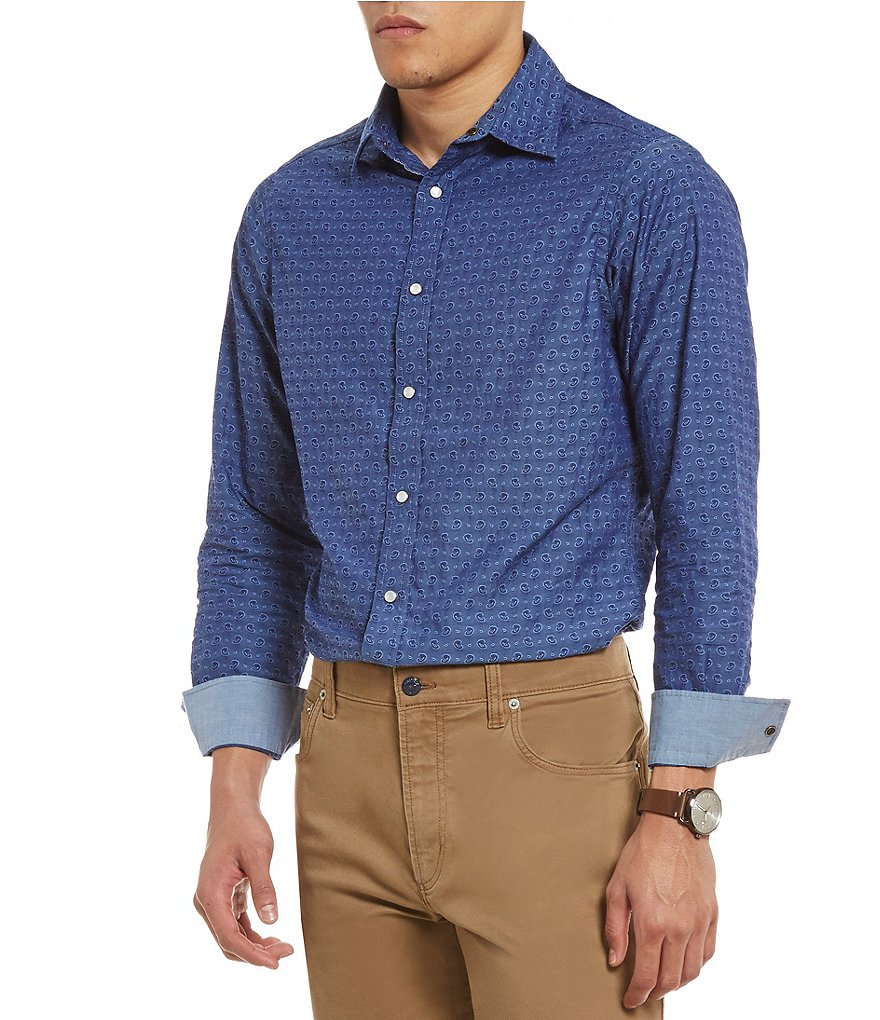 Cremieux Jeans Printed Long-Sleeve Woven Shirt