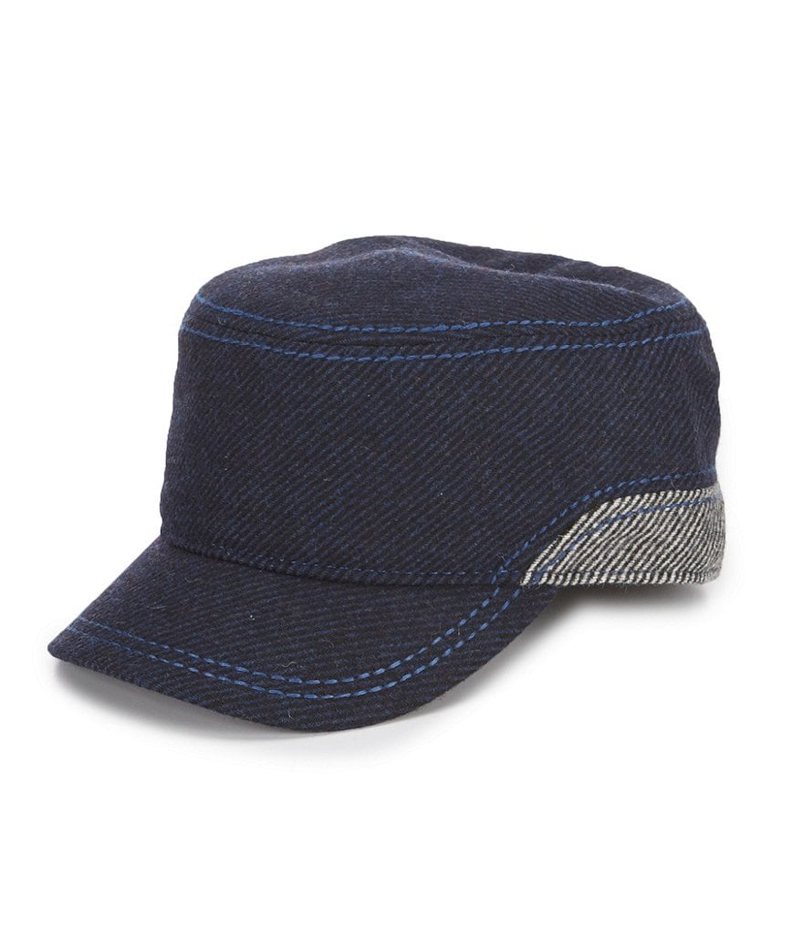 Cremieux Jeans Striped Military Cap