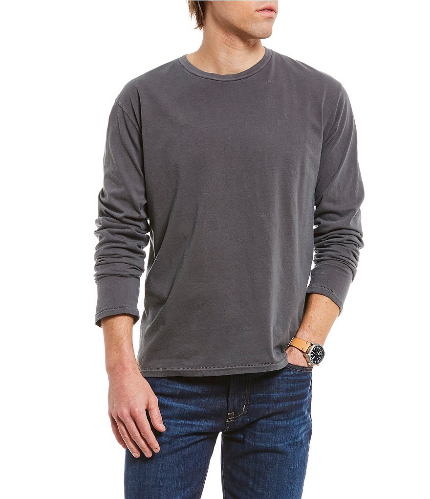 Cremieux Jeans Washed Jersey Long-Sleeve Tee