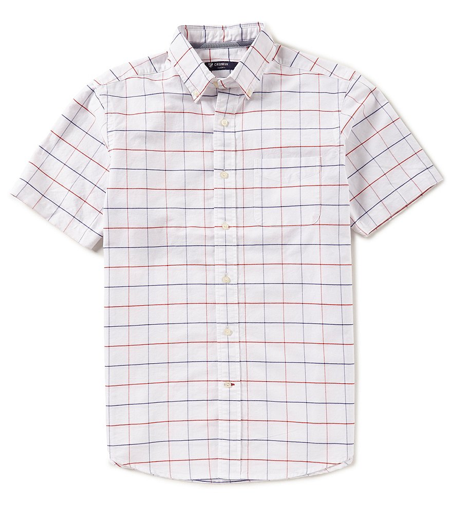 Cremieux Large Check Oxford Short-Sleeve Woven Shirt