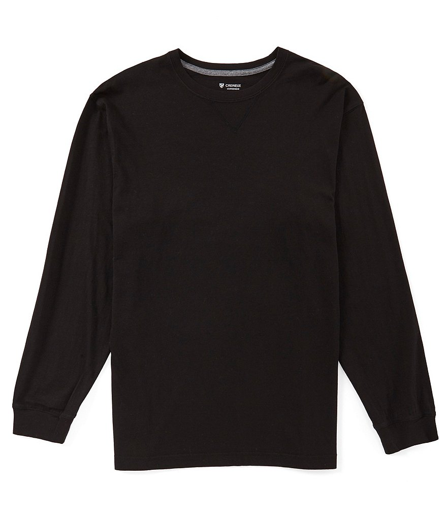 Cremieux Long Sleeve Crewneck Knit Solid Tee