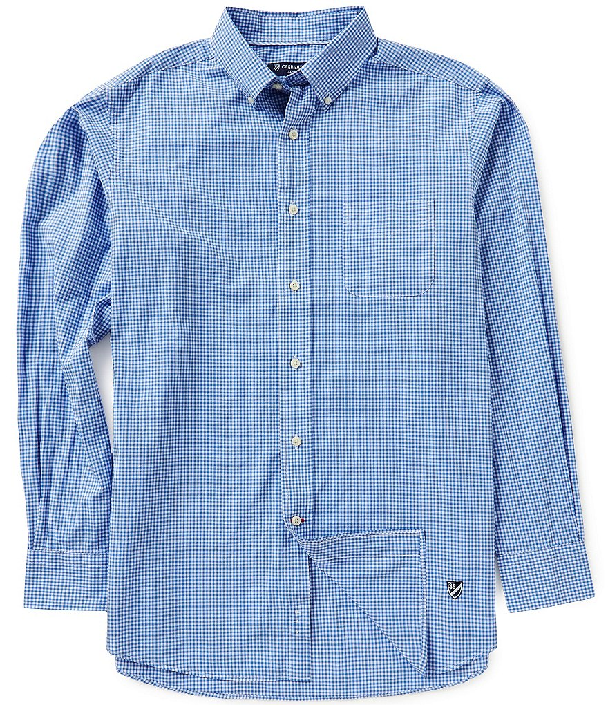 Cremieux Long-Sleeve Mini-Check Woven Shirt